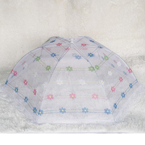 Food Cover - Pindia Flower Round Home Table Dustproof Folding Food Cover