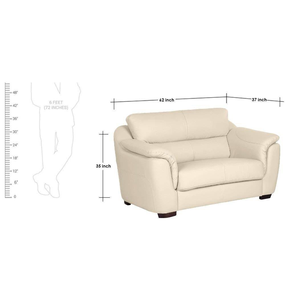 Furniture - Insignia  2 Seater Leatherette Sofa (Cream)
