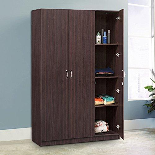 Furniture - Insignia 3-Door Wardrobe (Walnut)