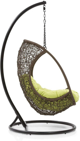 Furniture - Insignia Balcony Swing Chair With Stand (Brown)
