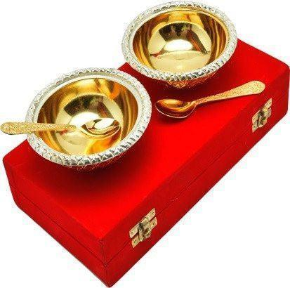 Gold Plated - ININDIA Gold Plated Bowl And Spoon Set