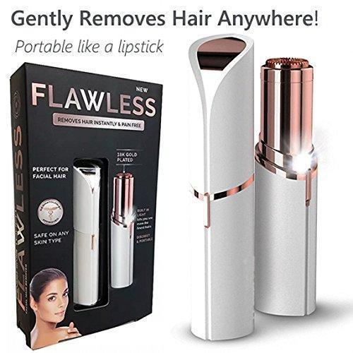 Hair - Ultra-Mini Lipstick Shape Painless Electronic Facial Hair Remover Trimmer Shaver For Women (Battery Not Included)