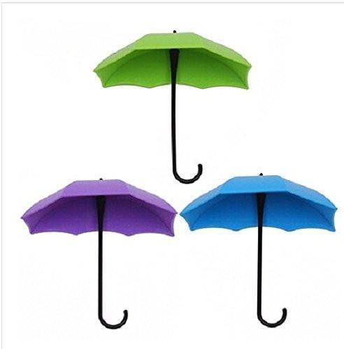 Umbrella Key Hat Wall Multipurpose Holder Hanger Hooks ( Set Of 3 Pieces) - The Immart - 1