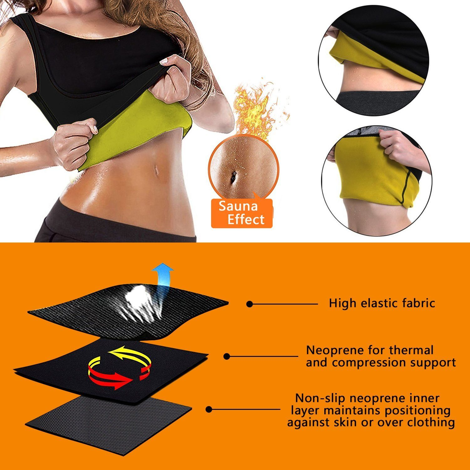 HOT SHAPER - Neotex Hot Shaper Suit For Women - Sweat While Working Instant Weight Reduction