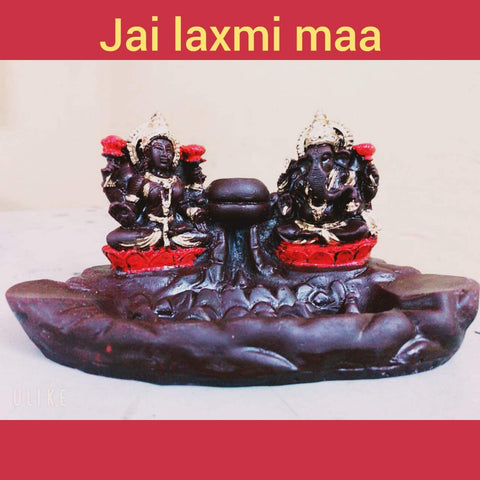 Incense Burner - TUZECH Lord Ganesh And Laxmi Backflow Reverse Incense Burner Holder Incense Cone Holder