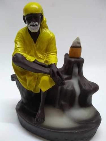 Incense Burner - TUZECH Shree SAI Baba Backflow Reverse Incense Burner Holder Incense Cone Holder