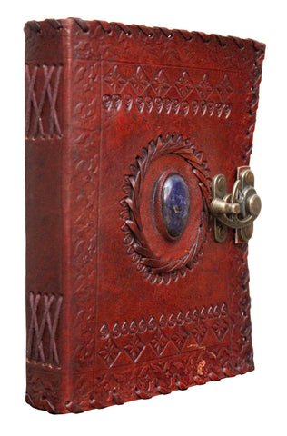 ININDIA Handmade 100% Pure Leather Diary for Office Home Daily Use With C Lock(All Colors) The Immart