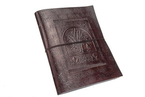 ININDIA Pure Genuine Real Vintage Leather Diary For Office Home Brown  10*7 Inches