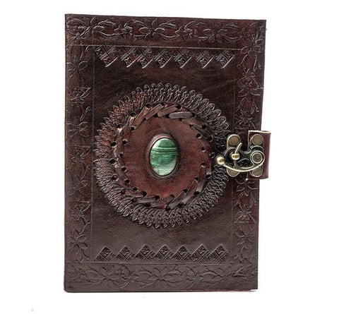 ININDIA Pure Genuine Real Vintage Leather Handmadepaper Notebook Diary For Office Home To Write Poem Daily Update Brown Size Of 7*5 The Immart