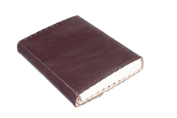 ININDIA Pure Genuine Real Vintage Leather Handmadepaper Notebook Diary For office Home to Write Poem Daily Update - Brown Size of 8*6 The Immart