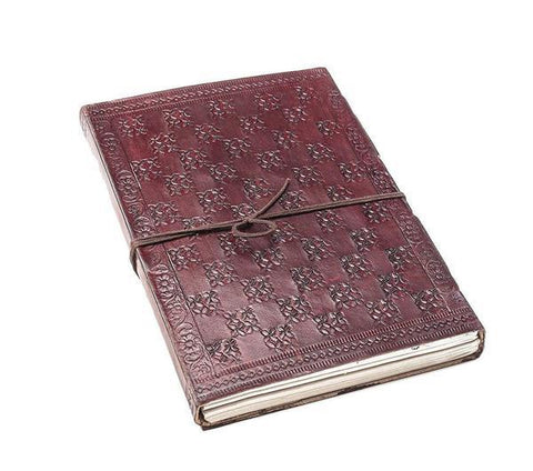 ININDIA Pure Real Vintage Leather Notebook Diary For Office Home To Write Brown 8 Inches