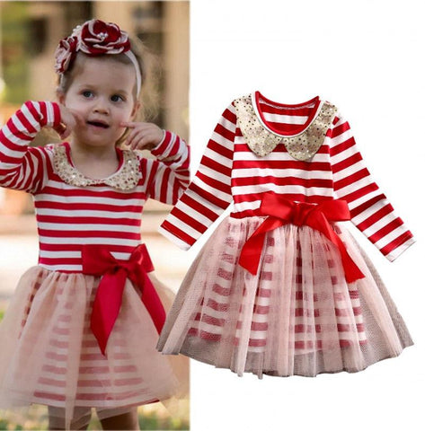 Kid's Cloths - Pindia Girl Lovely Dress Cotton Yarn Material With Bow