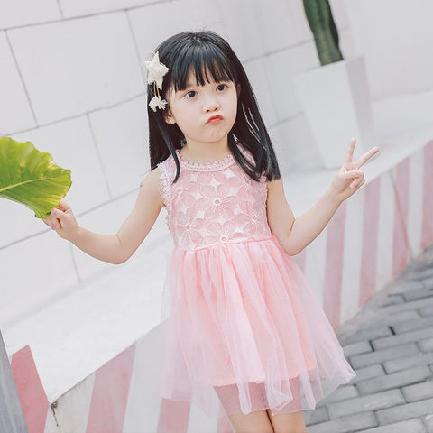 Kid's Cloths - Pindia Girls Children Wear Embroidered Dress Cute Style.