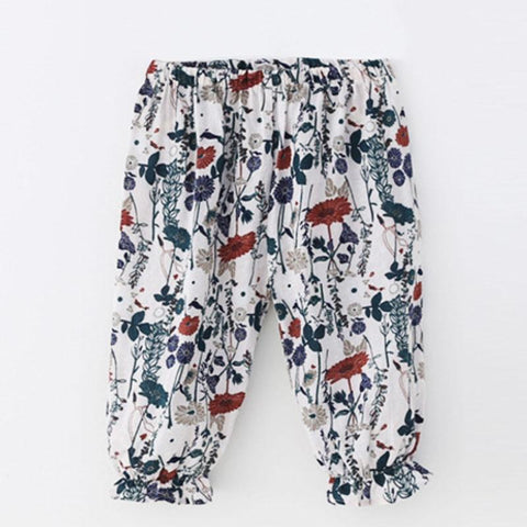 Kids Cloths - Pindia Girl's Pants Summer New Style Printed PANTS