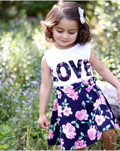 Kids Cloths - Pindia Infants Dress Style Hot Sale Clothes Sets With Flower Printing
