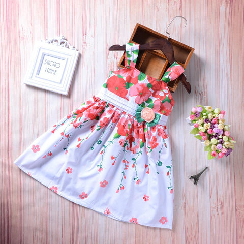 Kids Cloths - Pindia Toddler Girl Dress With Mixed Color And Flower