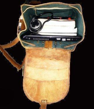 "Leather - IN-INDIA  Fascinating Large Bag Pack Travel Bag Duffel - 16Inches (Laptops Upto 16"")"