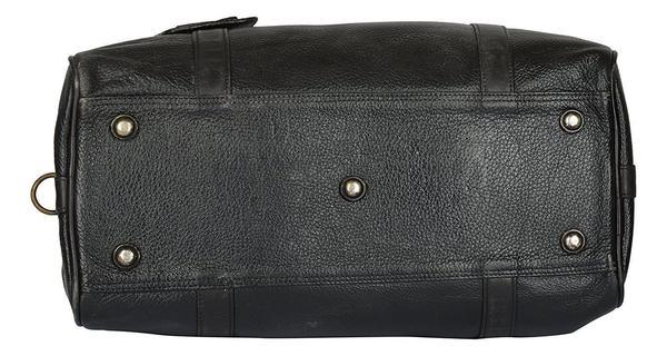 Leather - IN-INDIA Leather Black Softsided Travel Duffle Bag
