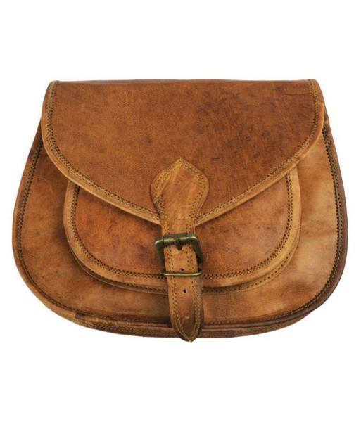 IN-INDIA Lichi Brown Pure Leather Casual Messenger Bag - The Immart  - 1