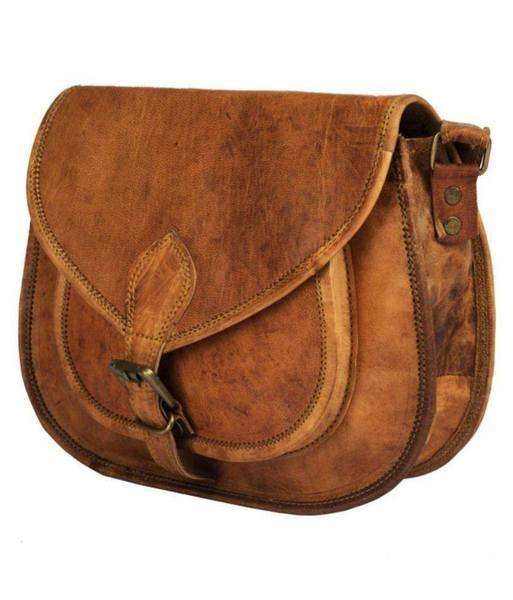 IN-INDIA Lichi Brown Pure Leather Casual Messenger Bag - The Immart  - 3