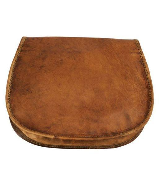 IN-INDIA Lichi Brown Pure Leather Casual Messenger Bag - The Immart  - 4