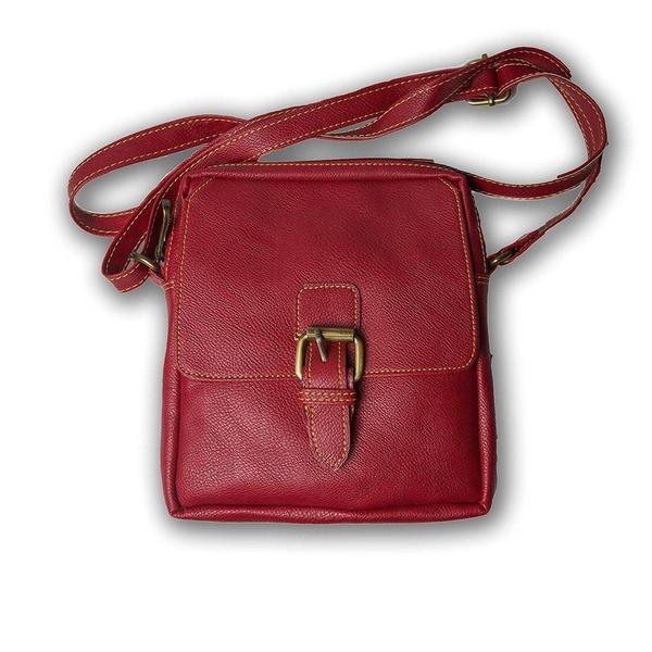 IN-INDIA Pure Leather Girls Ladies Casual Travel Smart Red Shoulder Sling Bag The Immart