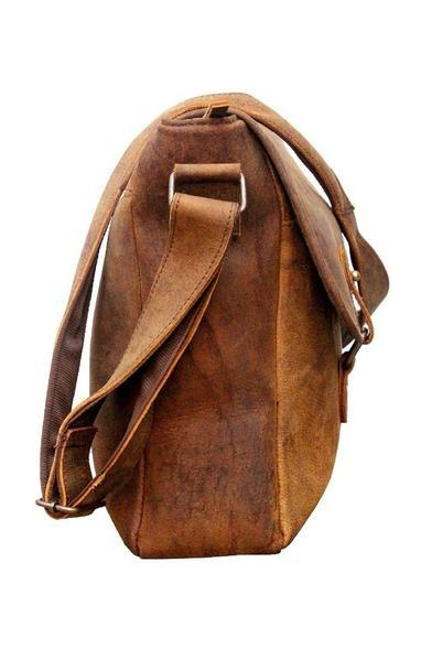 IN-INDIA Real Buffalo Leather Regular Use Stylish Hunter Messenger Bag -Fits Laptop Upto 15.6 Inches The Immart