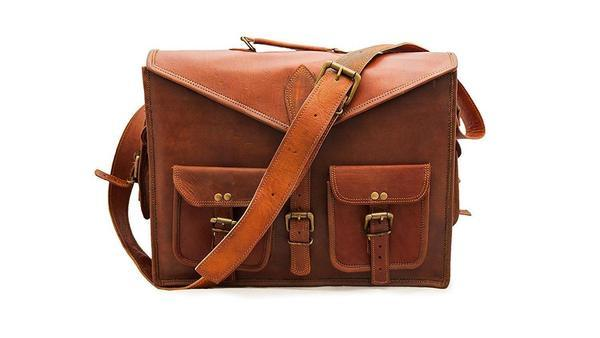 Leather - IN-INDIA Stylish Hunter Leather Messenger Bag Laptop  Bag Briefcase Satchel Bag