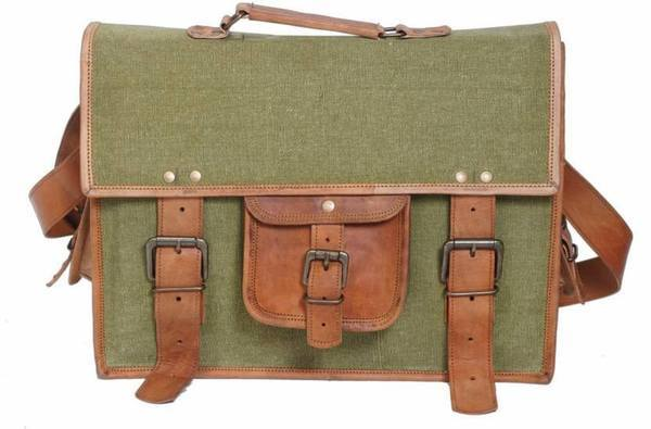 IN-INDIA Stylish Style Icon Leather Messenger Bag  (green, brown) The Immart