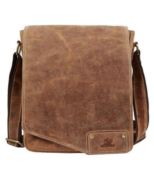 IN-INDIA Unisex Full Flap Regular Use Leather Satchel Messenger Bag - Fits Laptop The Immart