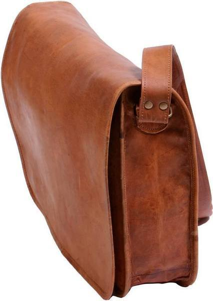 Leather - Pure Rustic Leather Genuine Leather Cross-body Messenger Bag (upto 18Inches)