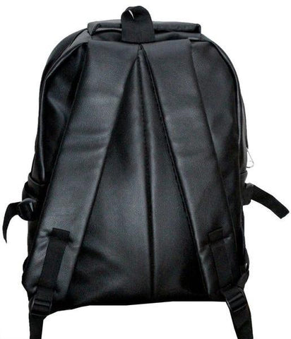 Leather - School/College Office PU Leather Backpack - Multicolour ( Shiny Finish) 15 Inches