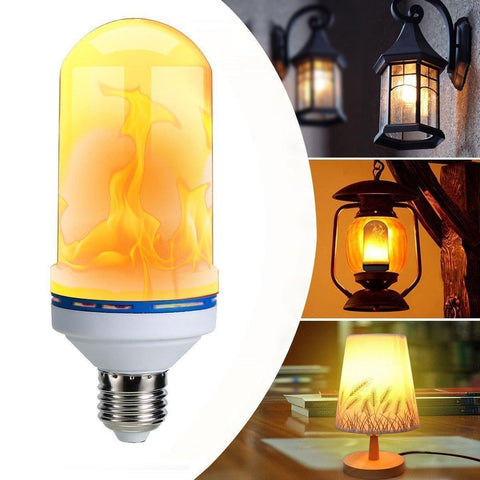 Led - TUZECH Flickering Flame Light Fire Bulb Decorative Light - E22 Socket