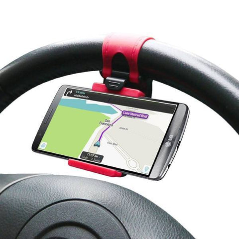 Mobile Holder - Universal Steering Wheel Holder For Phone ( Fits All Cars)