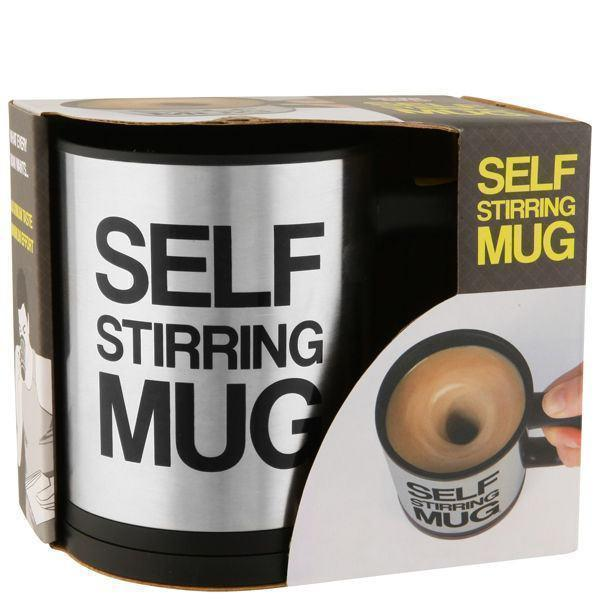 Tuzech Self Steering Mug With Battery Support And Button - The Immart  - 1