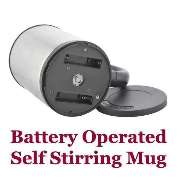 Tuzech Self Steering Mug With Battery Support And Button - The Immart  - 3