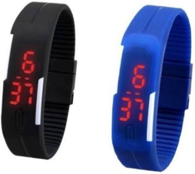 New Sports Look Waterproof Led Sports Watch For Men /Women - Set Of 2