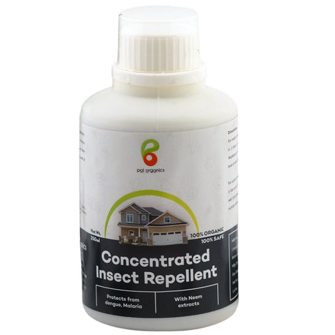 Organic - Concentrated Insect Repellent | Certified Organic | Water Soluble | All-in-one Natural Home Pest Control | Repels All Types Of Insects And Mosquitos | 250 Ml