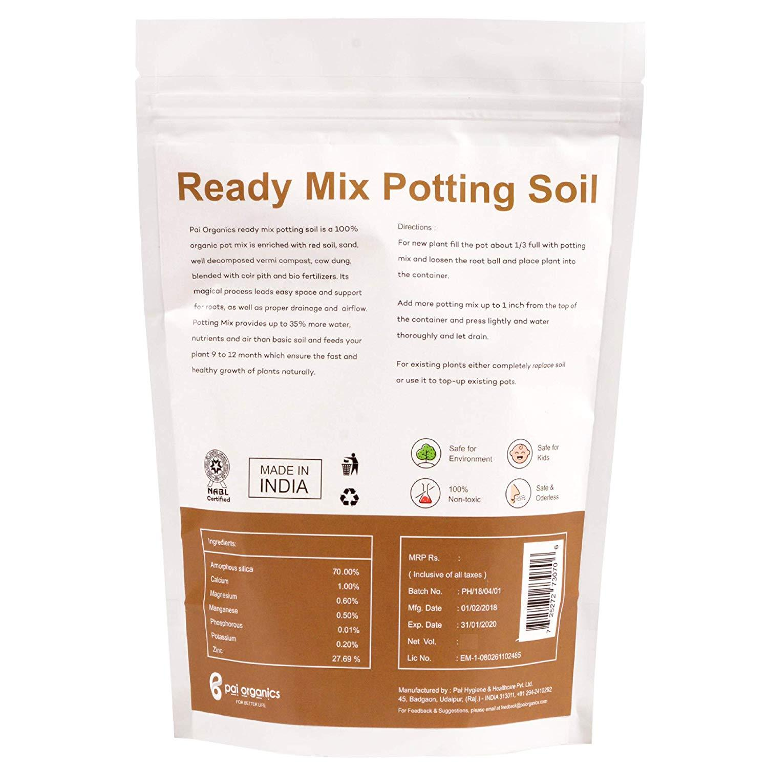 Organic - Ready Mix Potting Soil Organic Soil Booster For Plants Gardening Purposes, 1Kg Pack