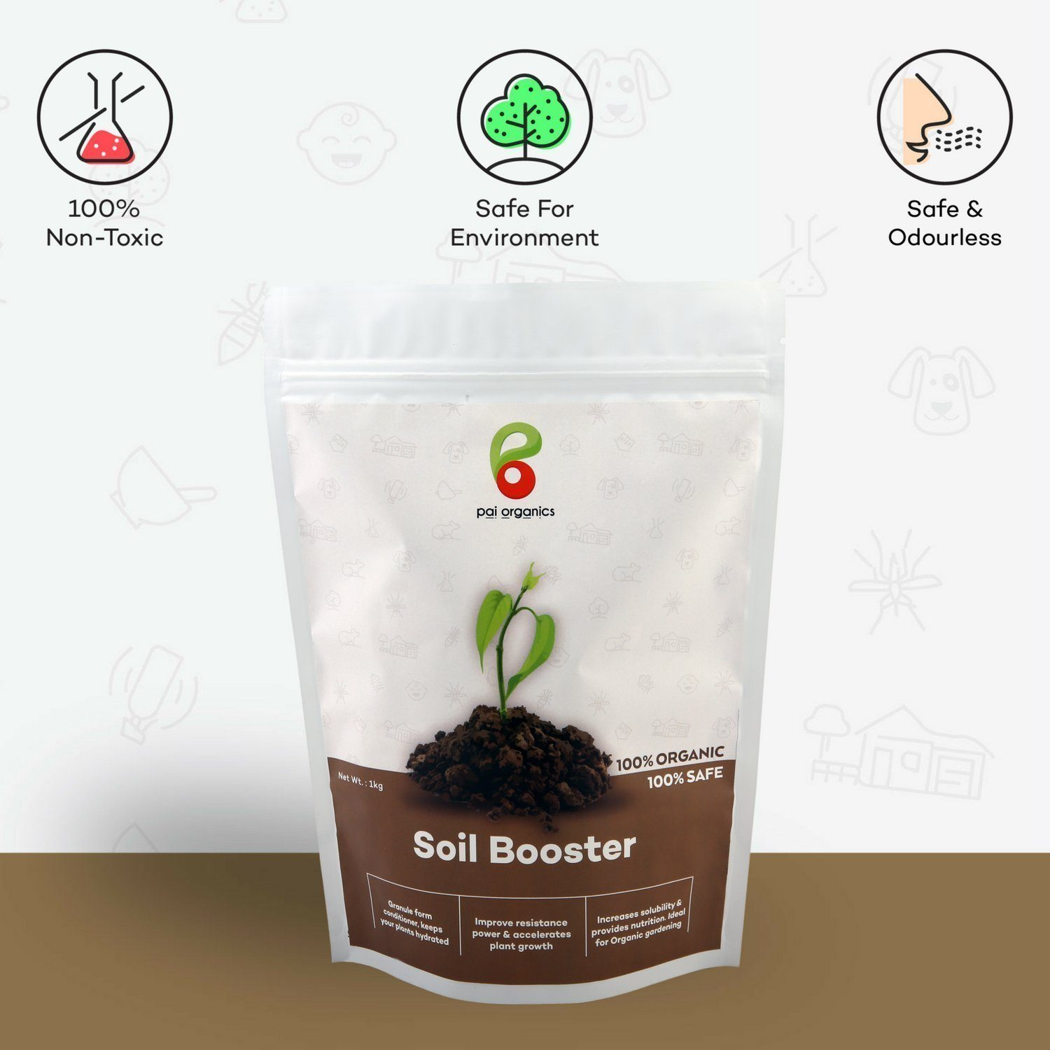 Organic - Soil Booster | Keep Plants Hydrated | Accelerates Plant Growth