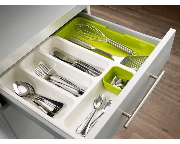 Organiser - Tuzech High Quality Rawer Store Expandable Cutlery Tray Organiser - Green - Modern Home