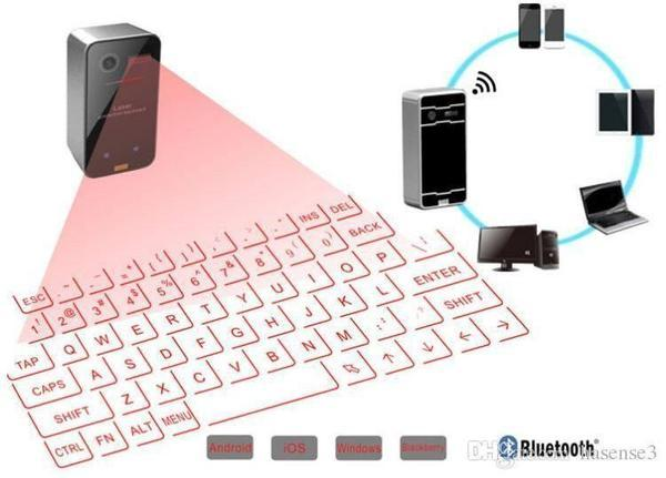 Wireless Virtual Laser Keyboard for Mac,Android , Windows,iPad and iOs - The Immart