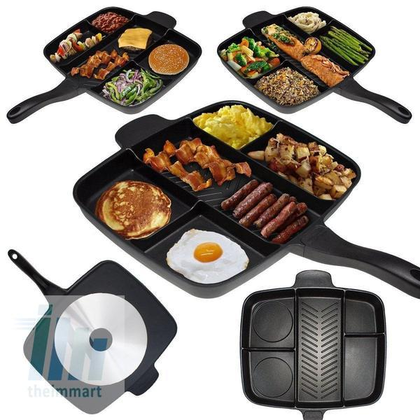 Tuzech Veg-Non-Veg 5 in 1 Magic Pan (Family Pan) (Non-Stick) (EXtra- Large) - The Immart  - 1