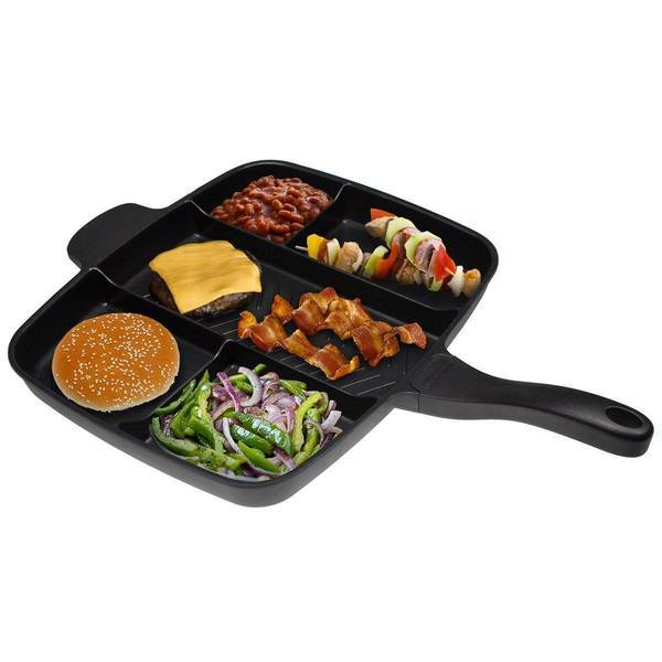 Tuzech Veg-Non-Veg 5 in 1 Magic Pan (Family Pan) (Non-Stick) (EXtra- Large) - The Immart  - 2