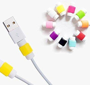 Protector Saver Cover For IPhone/iPad USB Charger Cable Cord - 2 Pieces (Multi-Color)