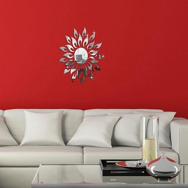 Removable DIY Sunflower Mirror Wall Decal - The Immart
