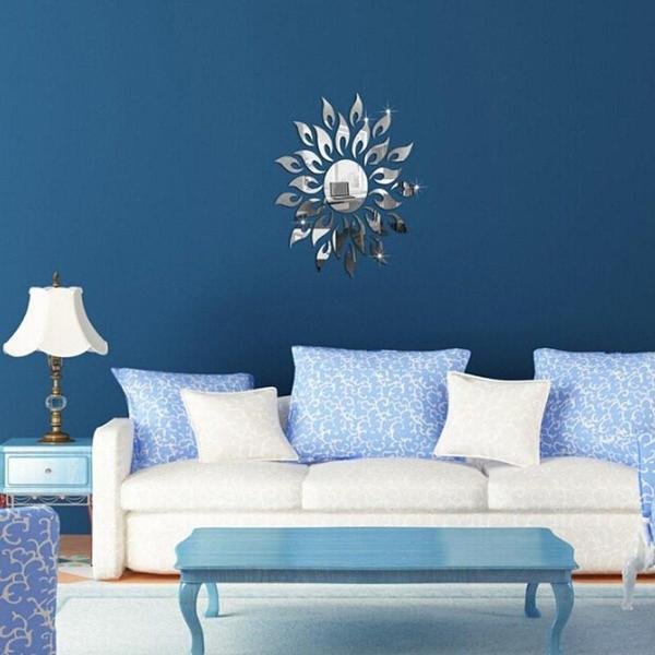 Removable DIY Sunflower Mirror Wall Decal