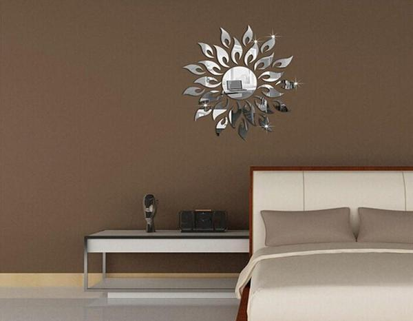Removable DIY Sunflower Mirror Wall Decal - The Immart  - 3