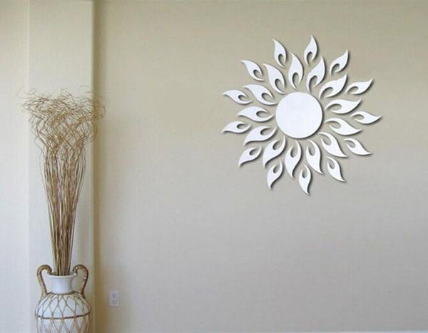 Removable DIY Sunflower Mirror Wall Decal - The Immart  - 4