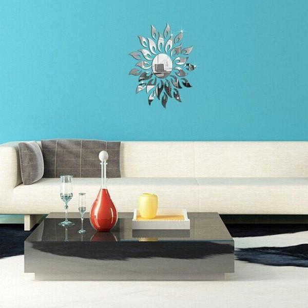 Removable DIY Sunflower Mirror Wall Decal - The Immart  - 5